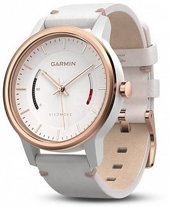 Смарт-часы Garmin Vivomove Classic with Leather Band (010-01597-11) Rose Gold-Tone - Фото №1