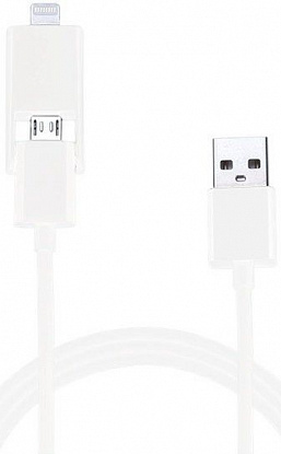 Кабель USB COMBO5-W Lightning&Micro 2in1 White