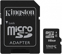 Kingston microSDHC class 4 SD adapter 16Gb