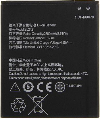Аккумулятор TOTO BL242 for Lenovo 2000/2300 mAh - №1