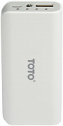 Портативная батарея TOTO TBG-82 Power Bank 4000 mAh 1USB 1A Li-Ion White - Фото №1