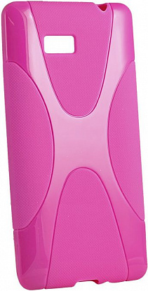 Чехол-накладка New Line X-series Case для LG L90 Dual/D405/D410 Pink