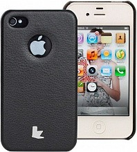 Jisoncase Slim Fit Hard Cover для iPhone 4 Black