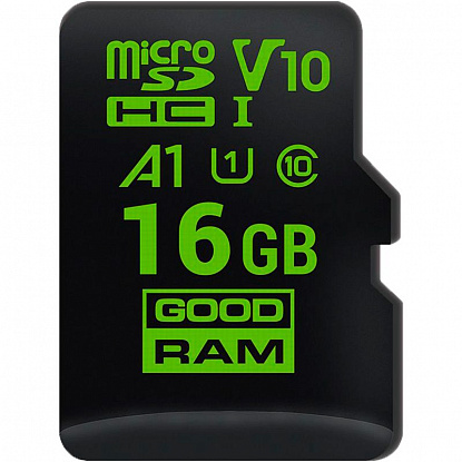 Карта памяти Goodram microSDHC class 10 UHS-1 A1 for Android 16Gb - Фото №1