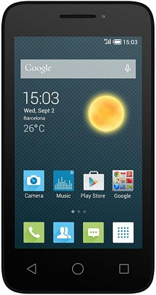 Смартфон Alcatel One Touch PIXI 3 4013D White Black Front - Фото №1