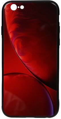 Чехол-накладка TOTO Print Glass Space Case Apple iPhone 6/6s Rubin Red