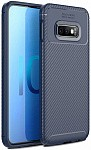 Чехол-накладка Ipaky Carbon Fiber Series/Soft TPU Case Samsung Galaxy S10e Blue